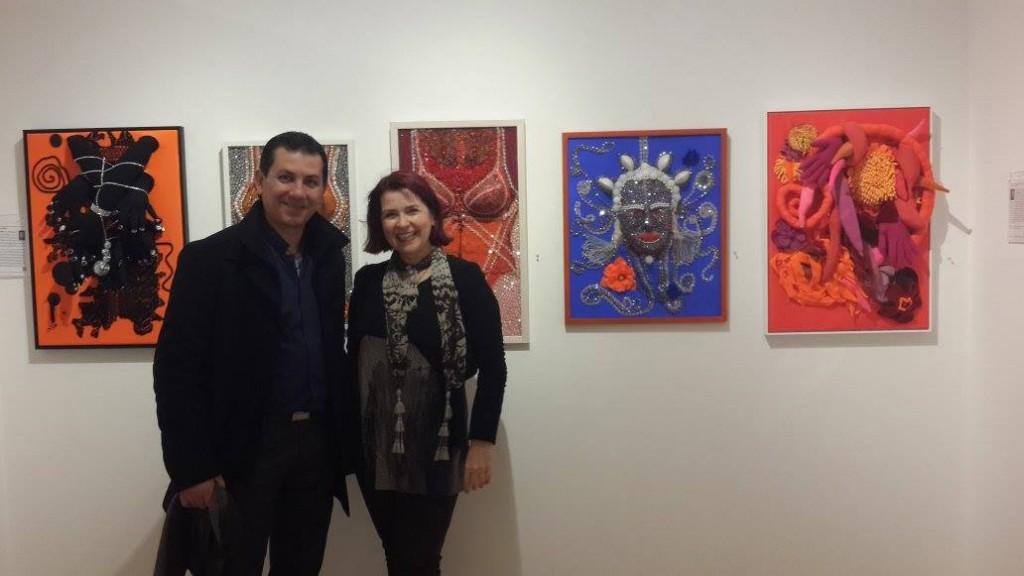 NYC Agora Gallery: Sabine Blasko with Artist-Friend Mario Agredano, Mexico